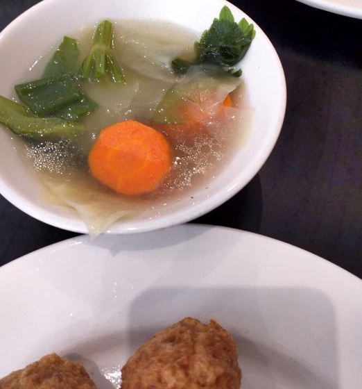Vegetable Soup With Fried Beefball